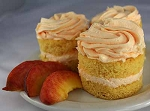 Mini Peach Mousse Cakes